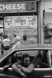 street, cheese shop, Kensington Market, Toronto, 1983,